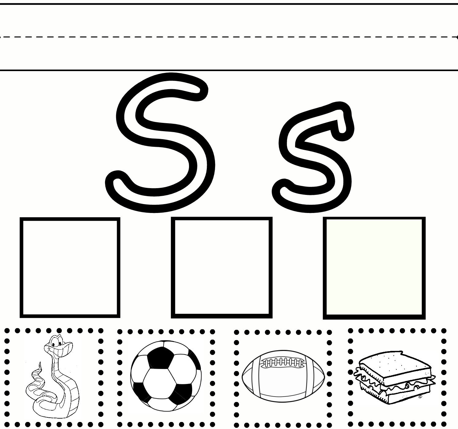 S sound Worksheet Letter S