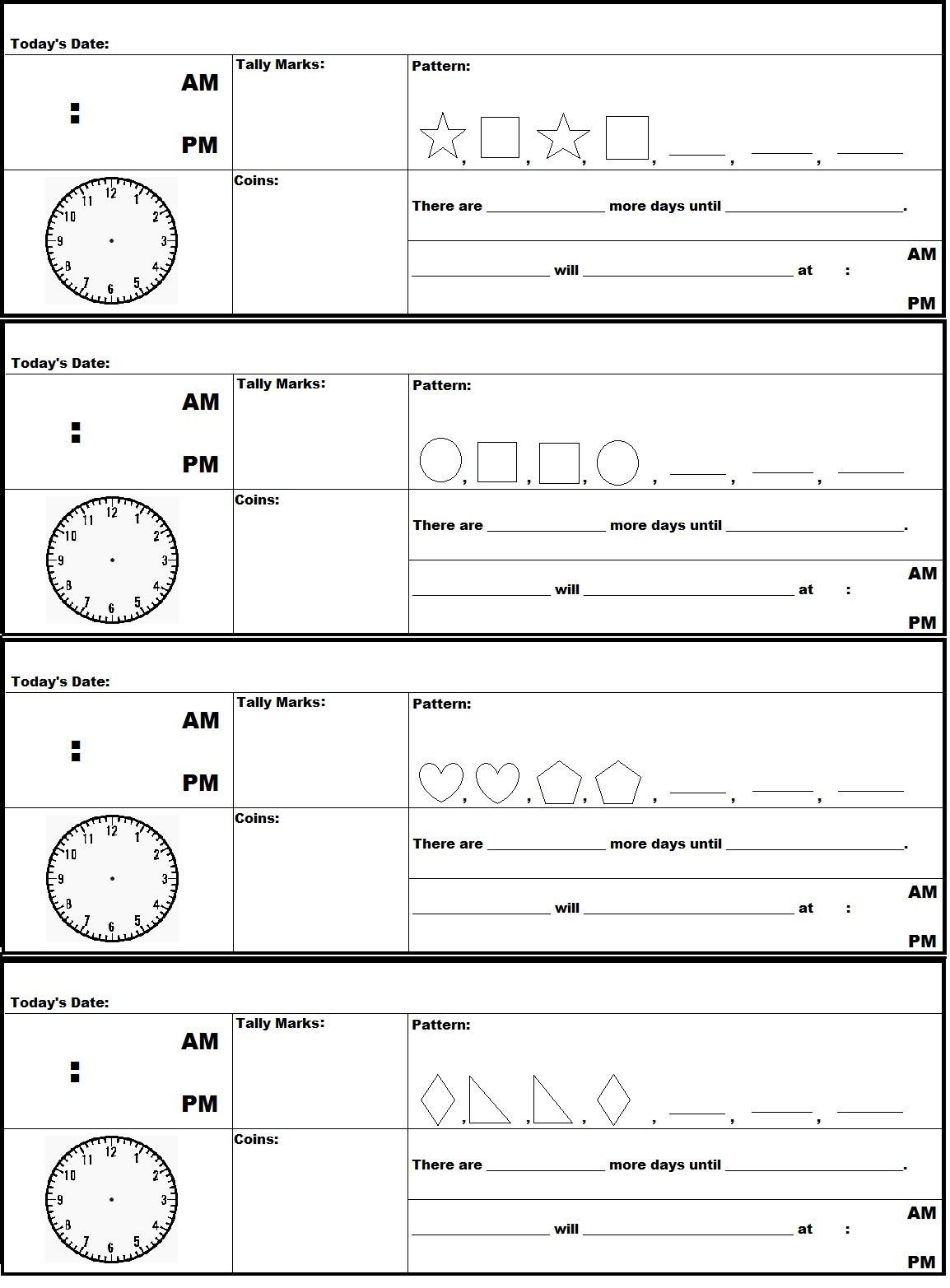 A FREE printable document of Saxon Math 2nd Grade Meeting