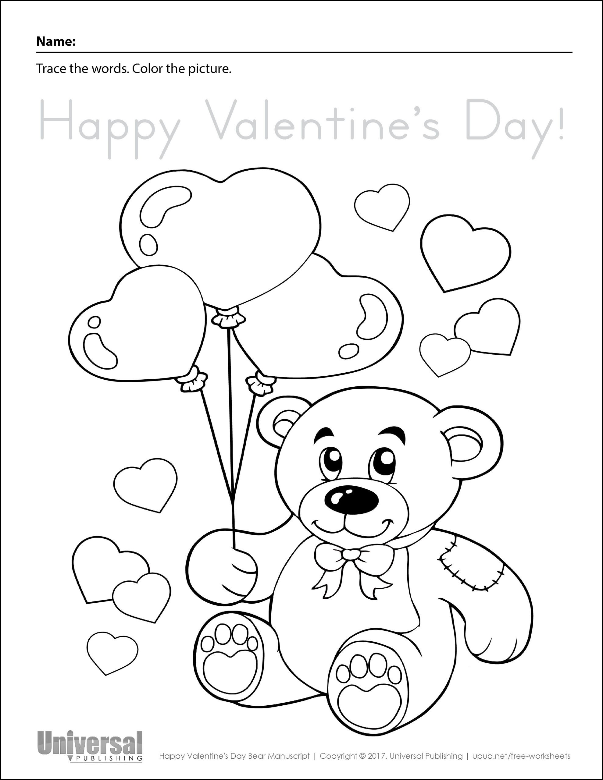 Saxon Math Kindergarten Worksheets Coloring Worksheets Valentines Printable and Valentine Happy