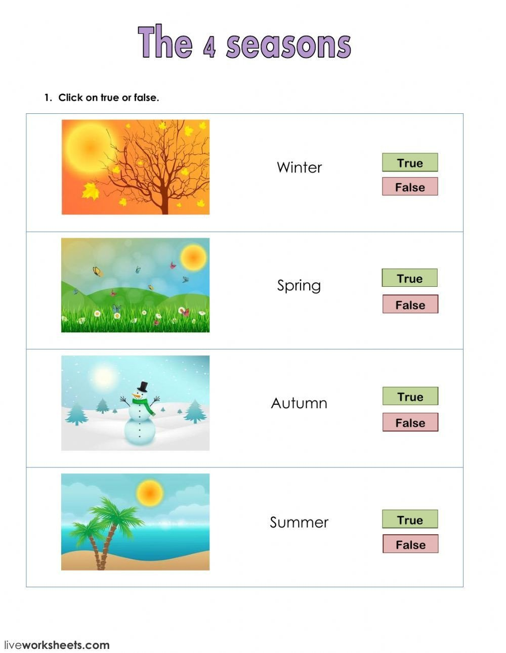 Seasons Worksheets for First Grade the Weather Interactive and Able Worksheet You Can