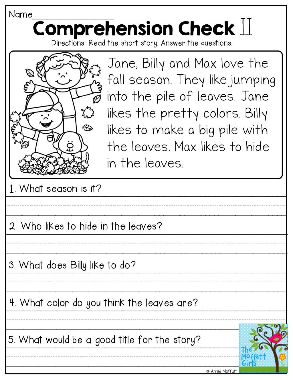 Seasons Worksheets for First Grade Worksheet First Grade Prehension Activities Worksheet