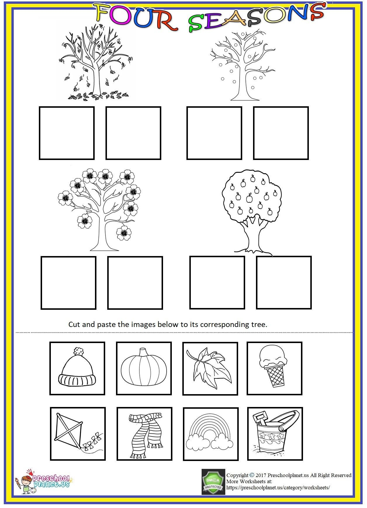 Seasons Worksheets for Kindergarten Pin On Worksheet for Kids