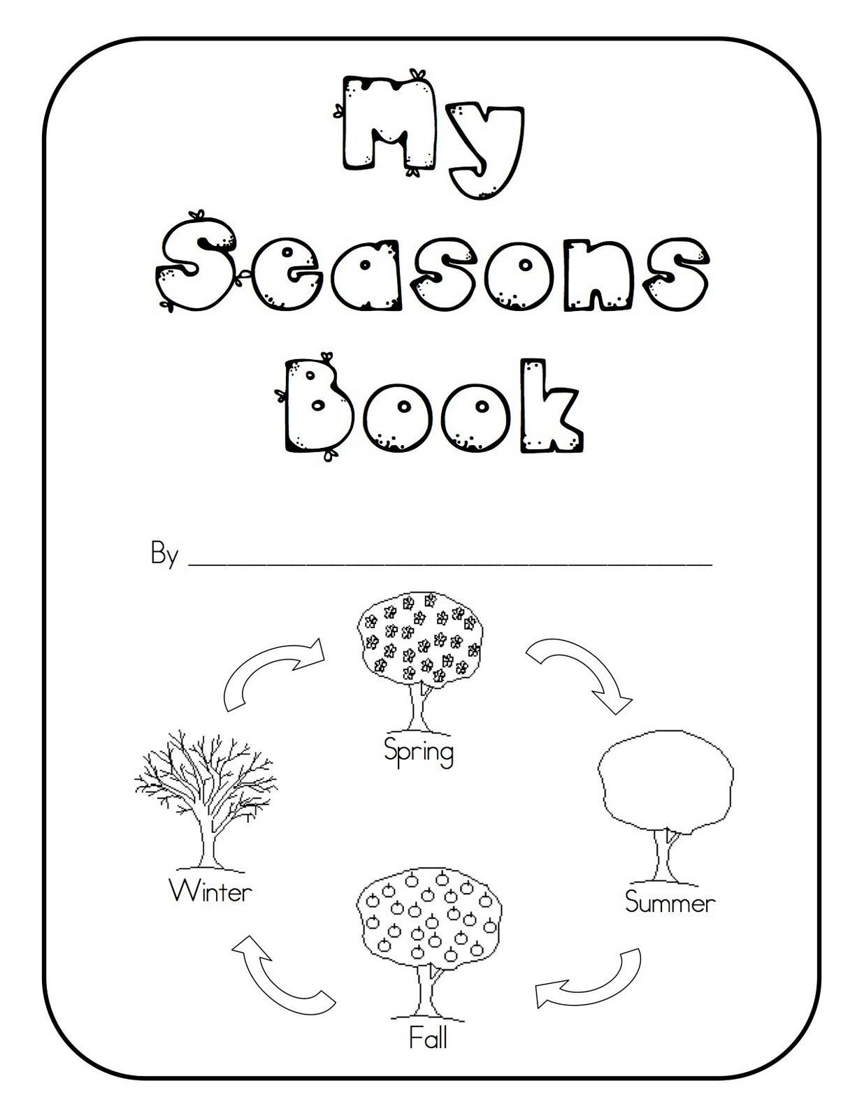 Seasons Worksheets for Kindergarten Seasons Kindergarten Books Lines Worksheets for Math is Fun