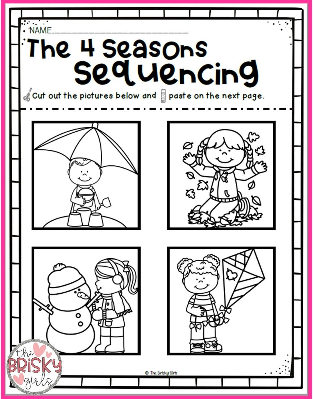 Seasons Worksheets for Kindergarten the Four Seasons Spring Summer Fall Winter Seasons