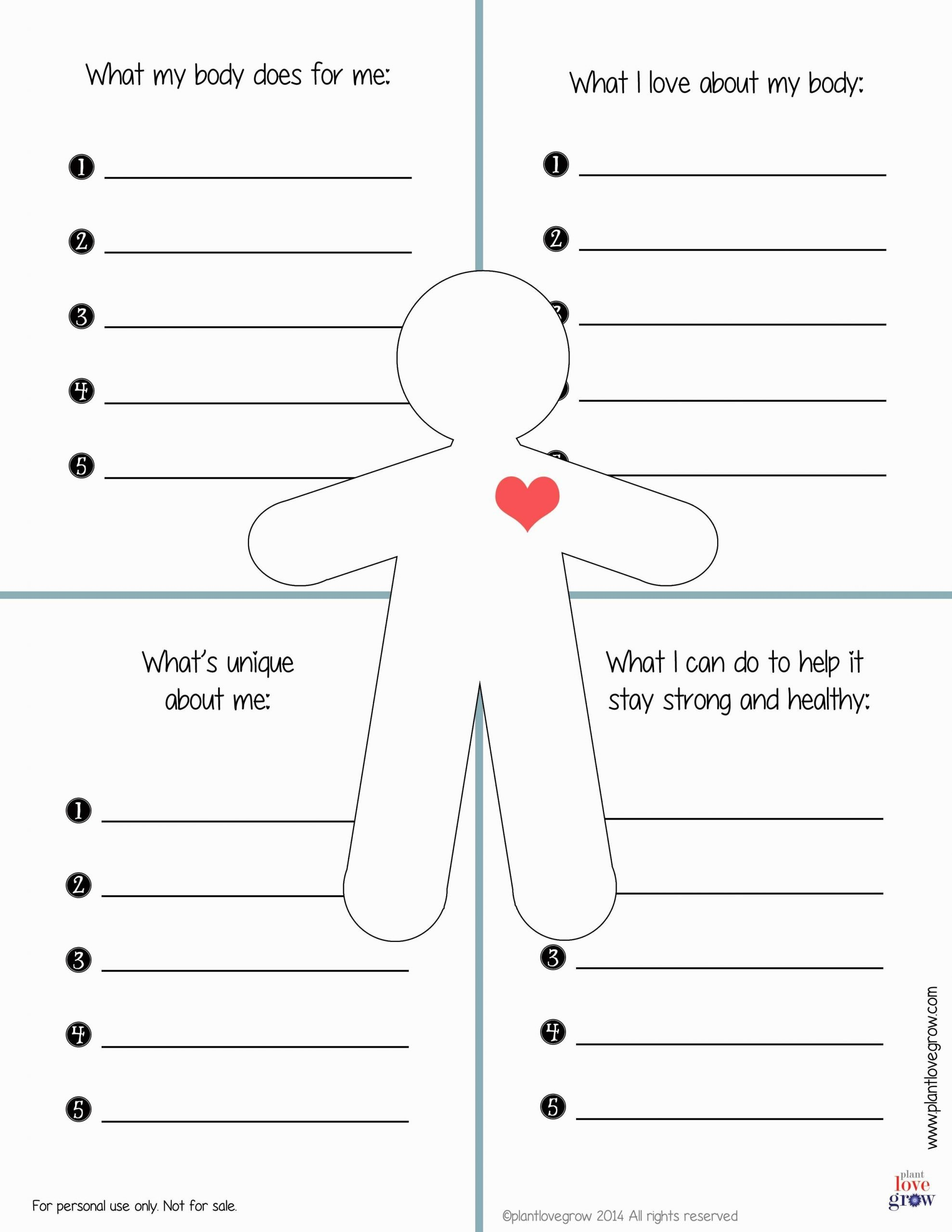 Self Esteem Worksheets for Kids 30 Self Esteem Worksheets to Print