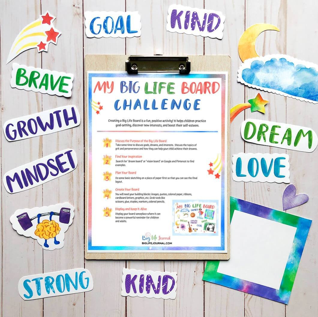 Big life board challenge for kids printable 2 1ogressive