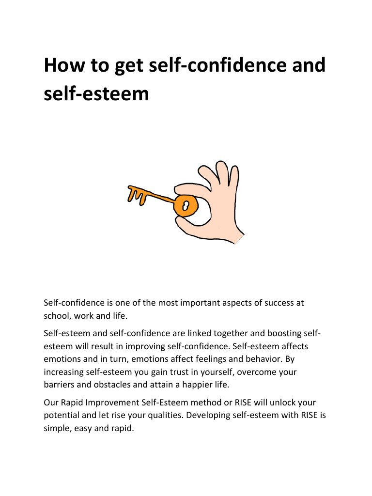 Self Esteem Worksheets Pdf How to Self Confidence and Self Esteem Pdf Archive