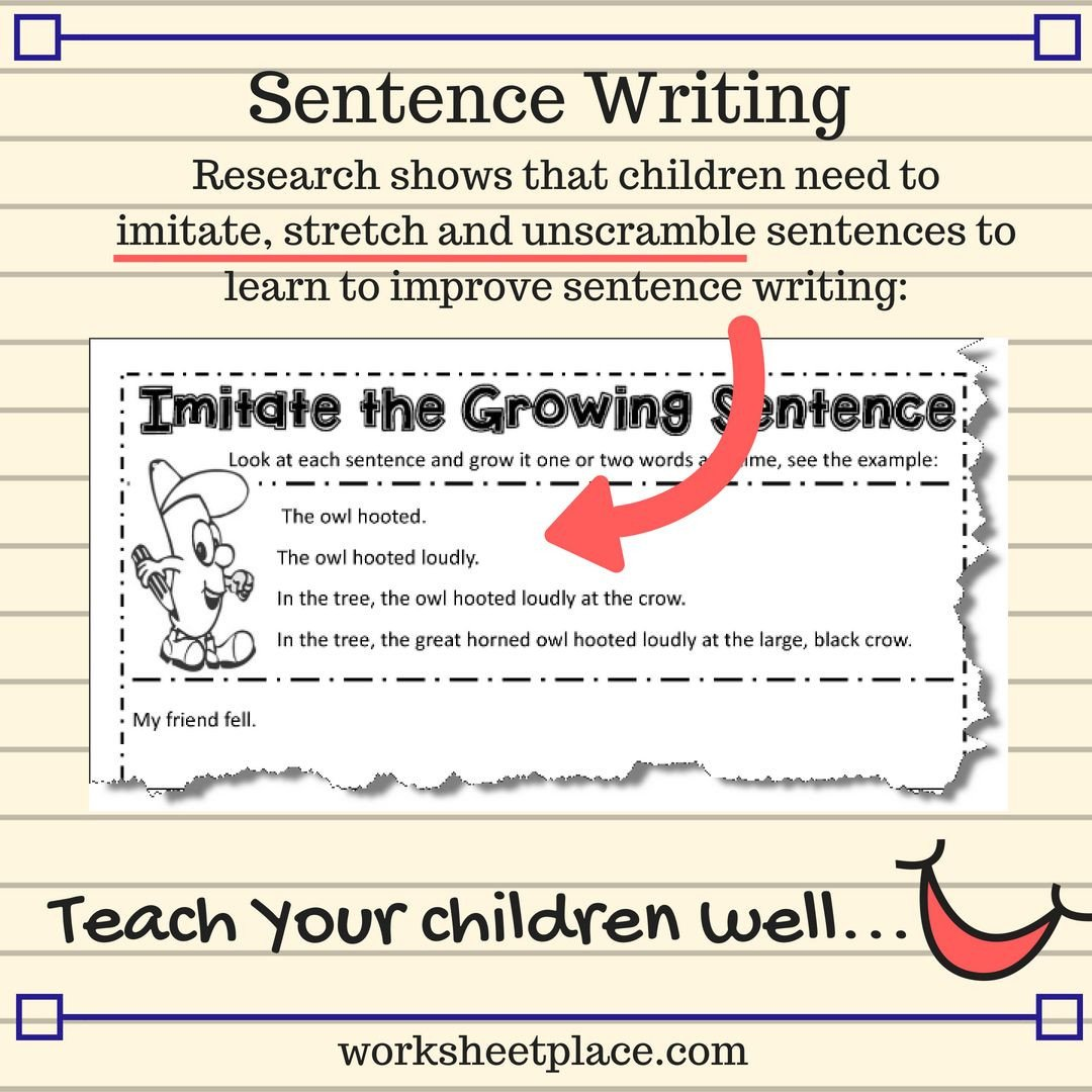 Sentence Imitation Worksheets Free Sentence Writing Resources and Worksheets for Grad 2 6