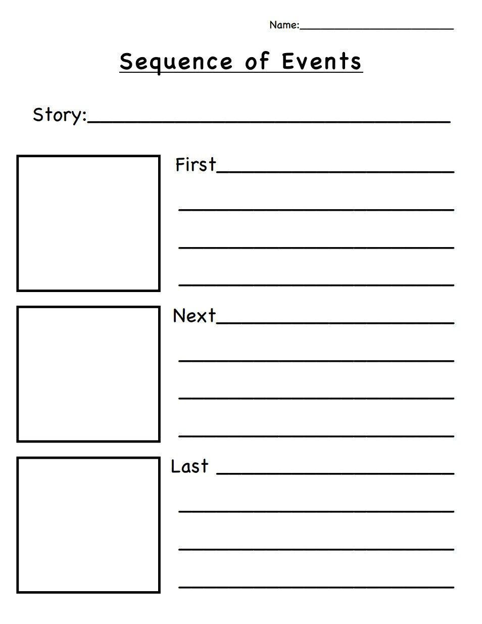 Sequence Of events Worksheets Pdf 4 Sequencing events In A Story Worksheets Worksheets Schools