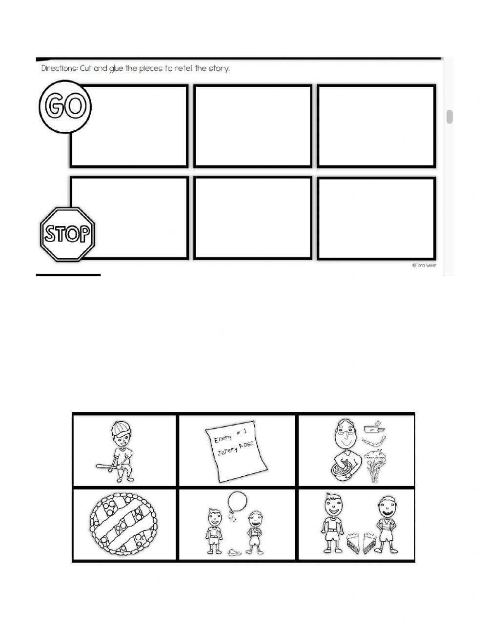 Sequence Pictures Worksheets Enemy Pie Sequence 2 by Tara West Interactive Worksheet