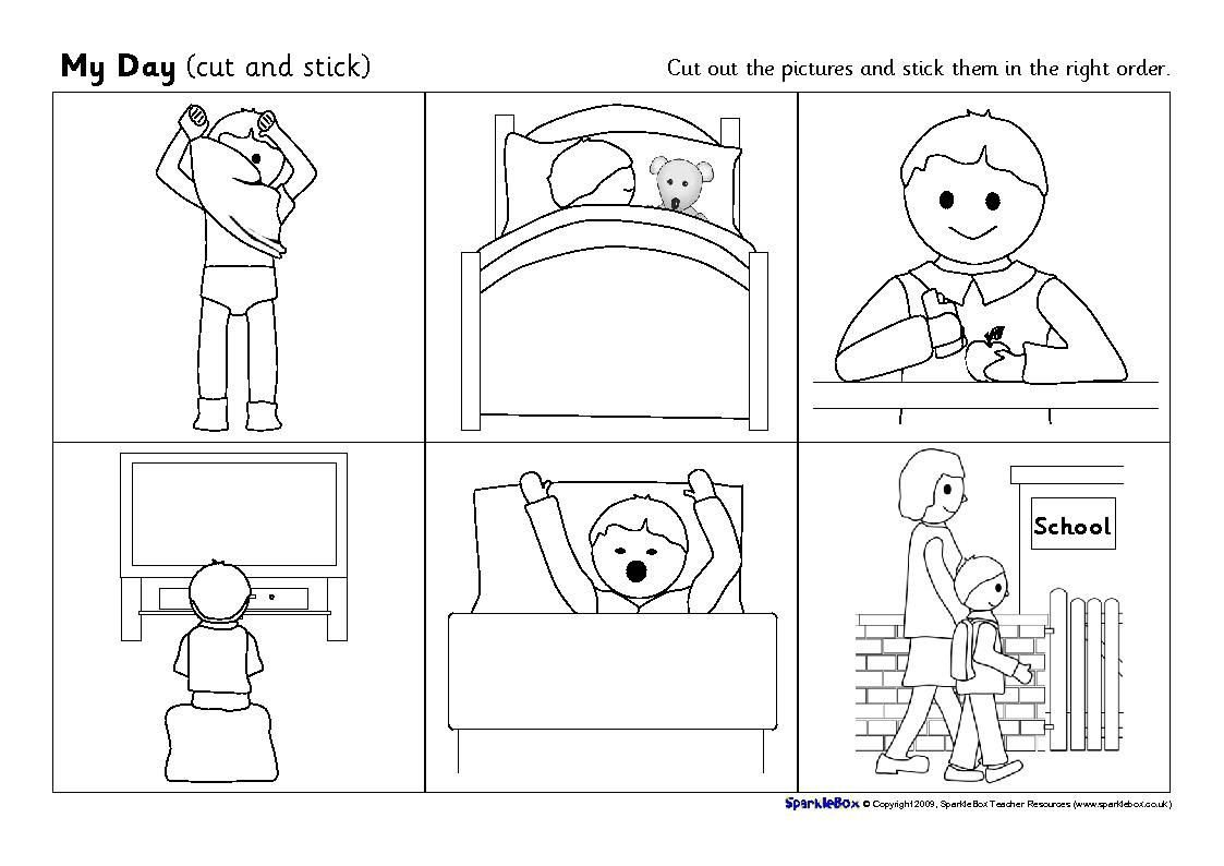 Sequence Pictures Worksheets English is Fun Daily Routine Sequencing Cards