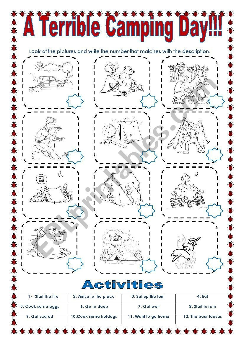 Sequence Pictures Worksheets Sequence Adverbs and Simple Present Esl Worksheet by sonyta04