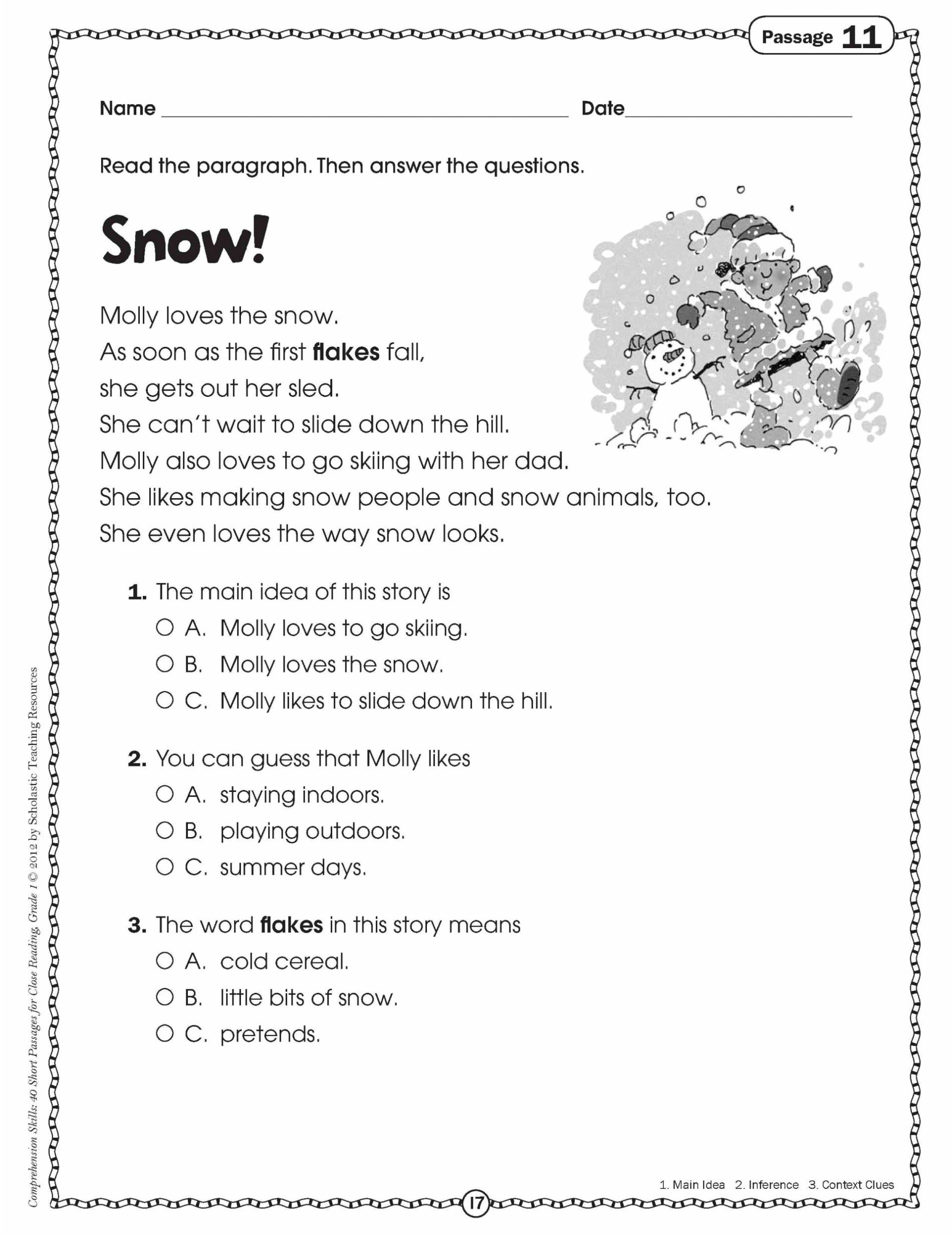 Sequence Worksheets 3rd Grade Math Worksheet 3rd Grade Reading Passages and Questions