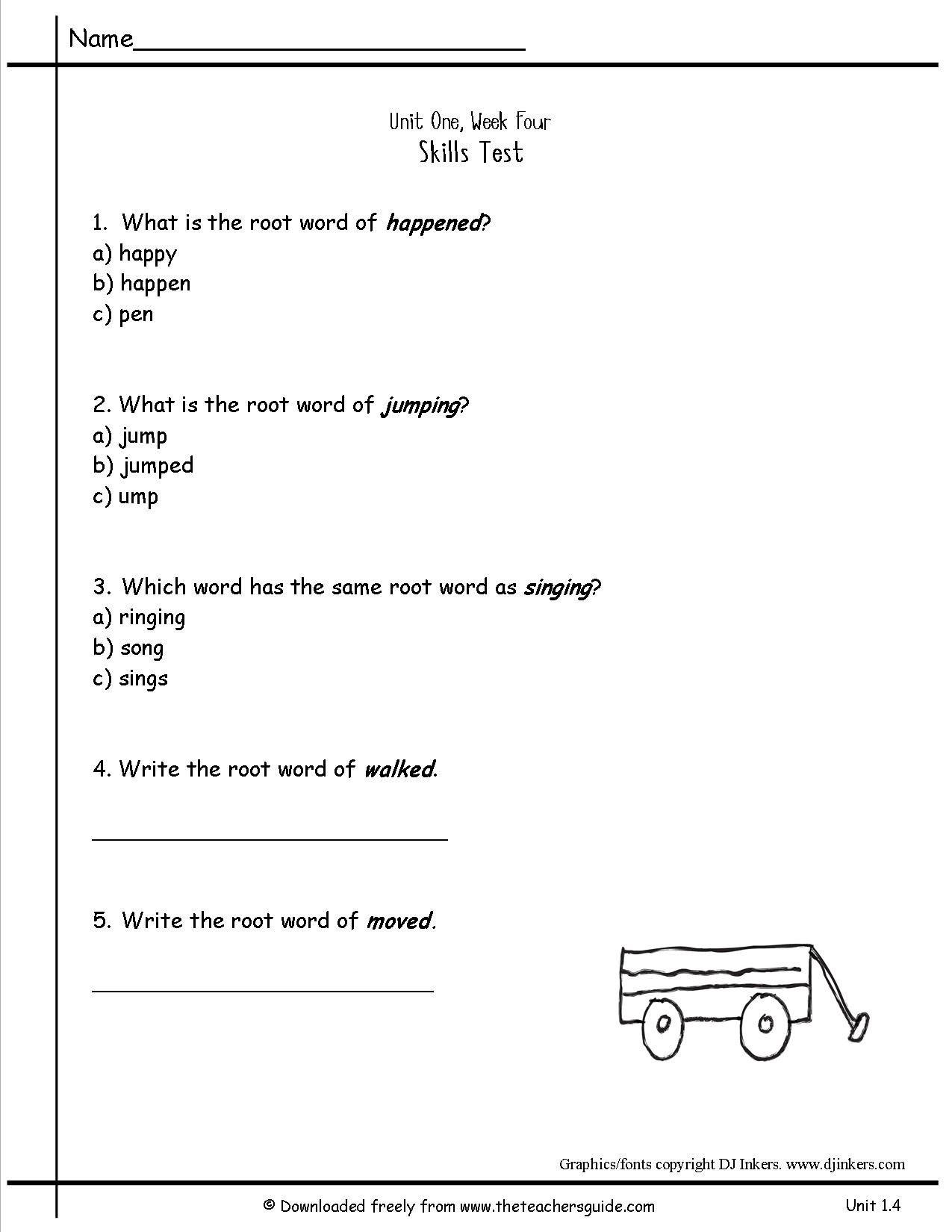 Sequencing Worksheet 2nd Grade Wonders Second Grade Unit E Week Four Printouts