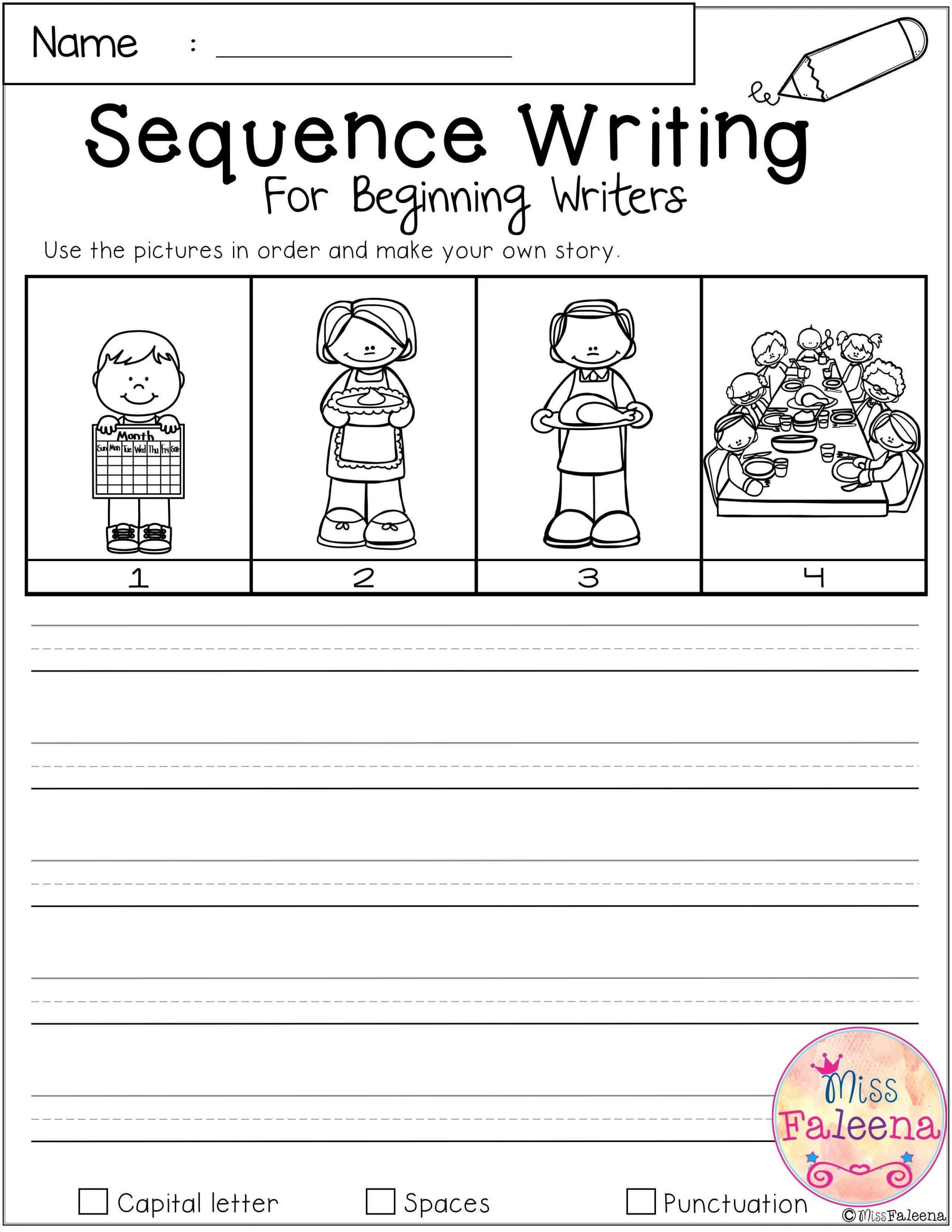 Sequencing Worksheet First Grade Sequence events Worksheets