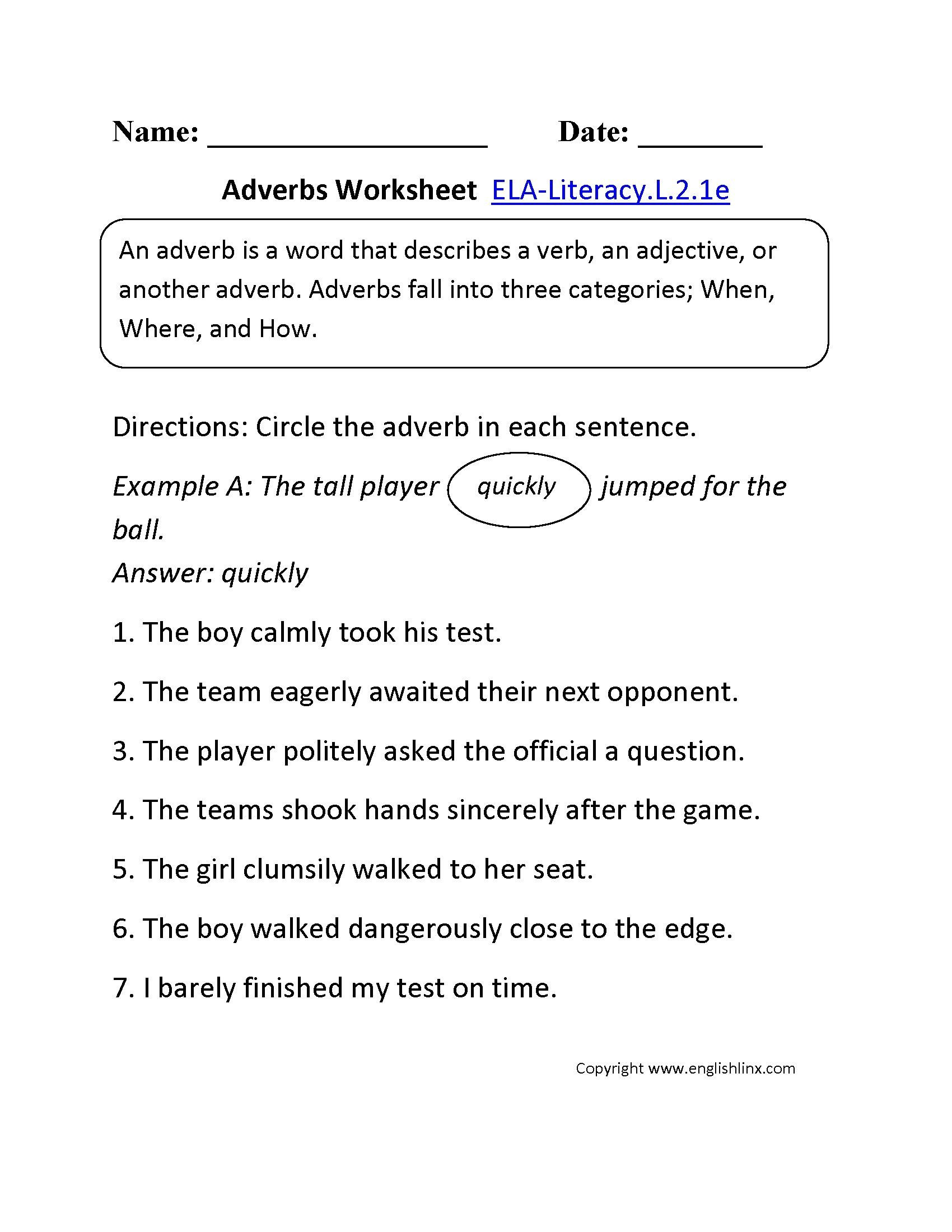 Shurley English Worksheets format 2nd Grade Mon Core Language Worksheets