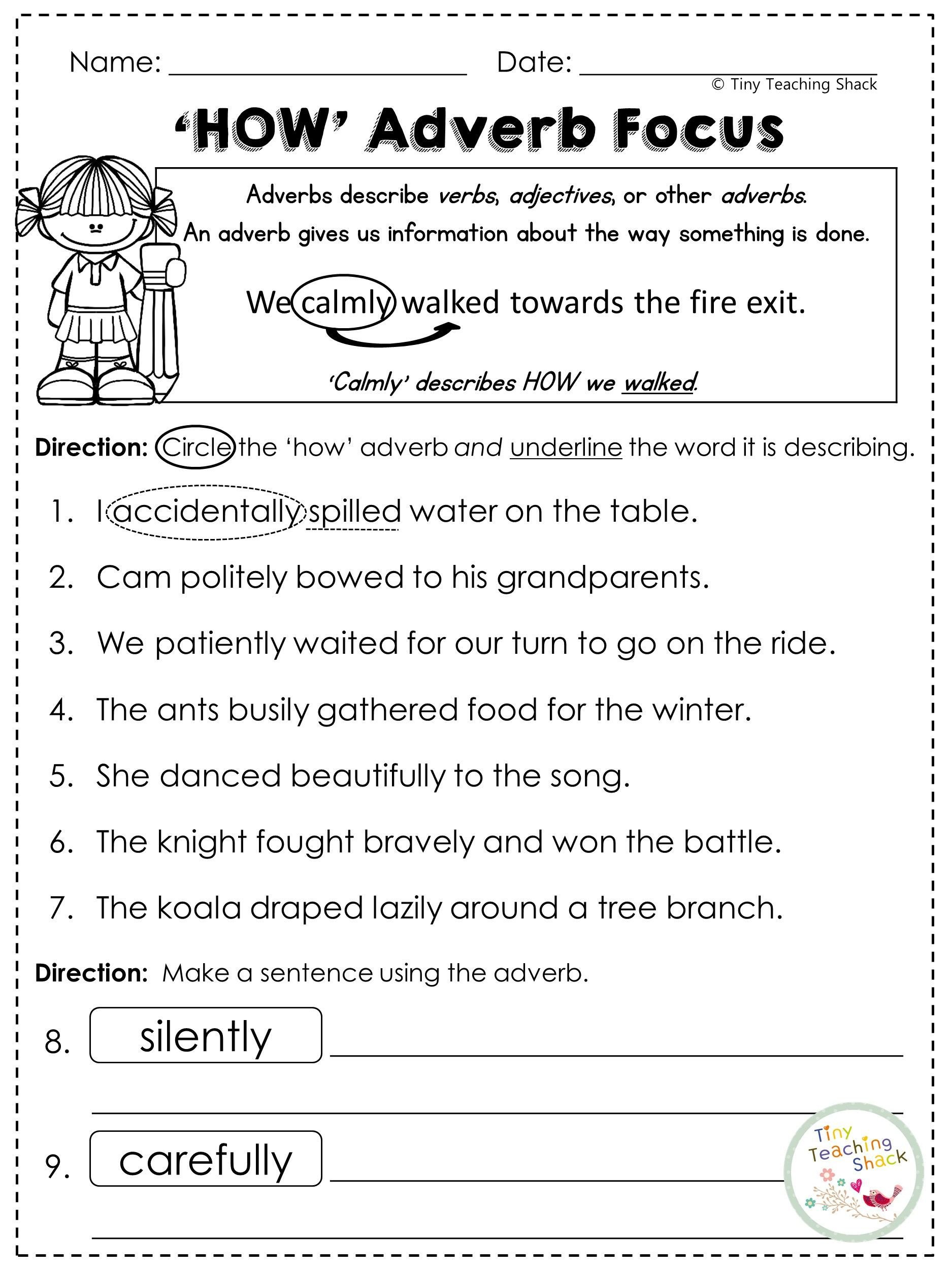 Shurley English Worksheets Second Grade Grammar Practice Sheets