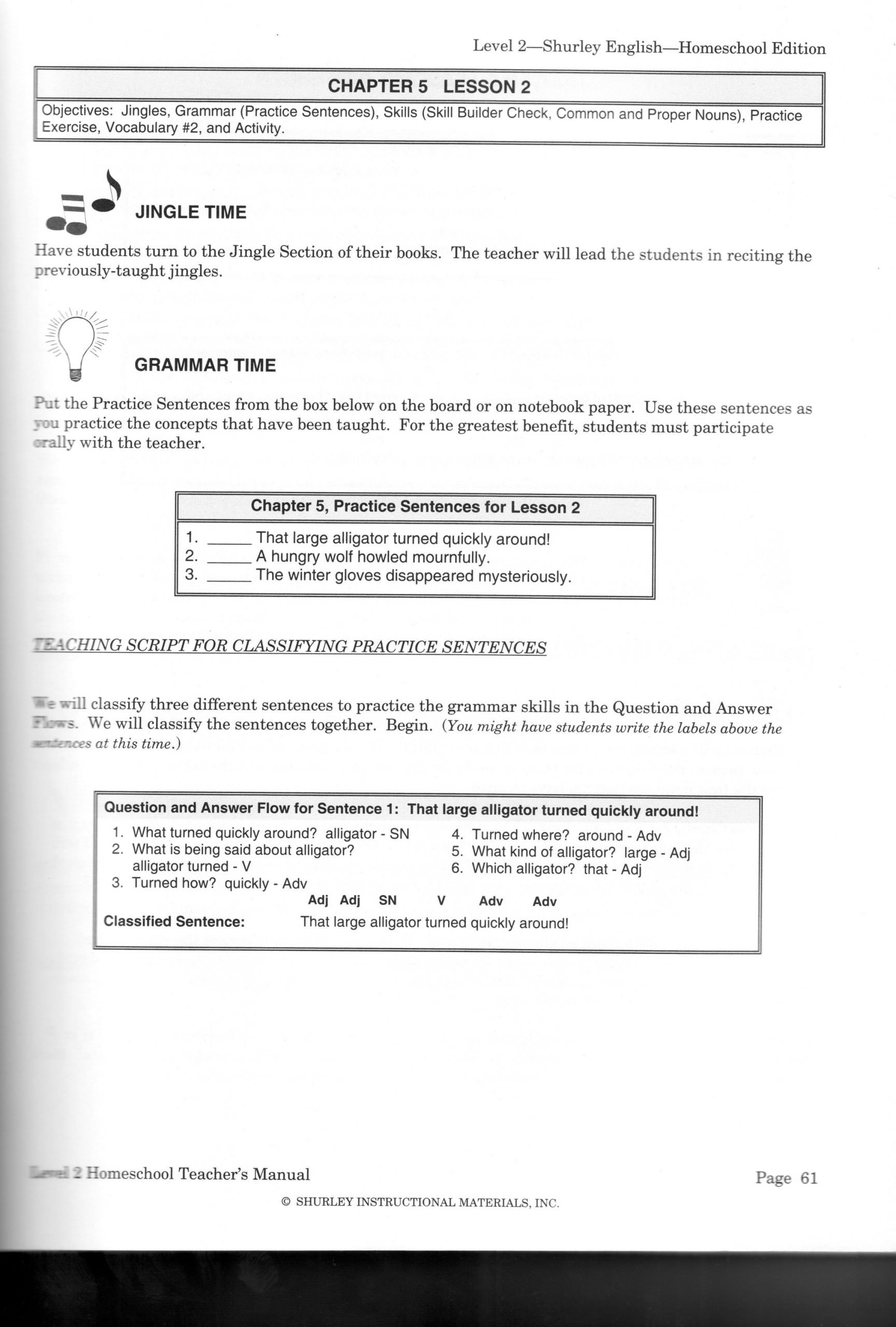 Shurley English Worksheets Shurley English Worksheet Free