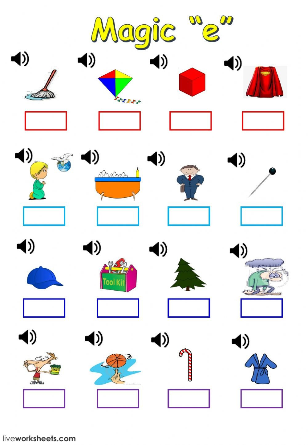 Silent E Worksheet Magic E Interactive Worksheet