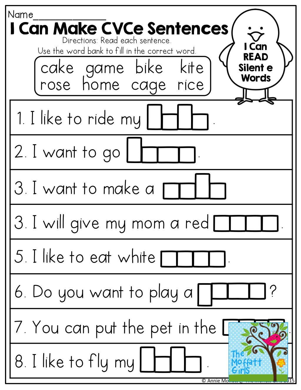 Silent E Worksheet Magic Silent E Worksheet