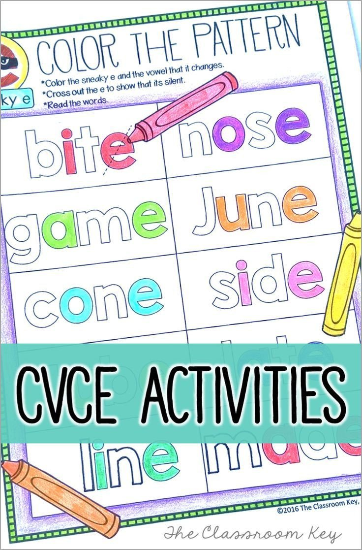 Silent E Worksheets 2nd Grade Cvce Phonics Activities $ Worksheets Posters A Tab Book