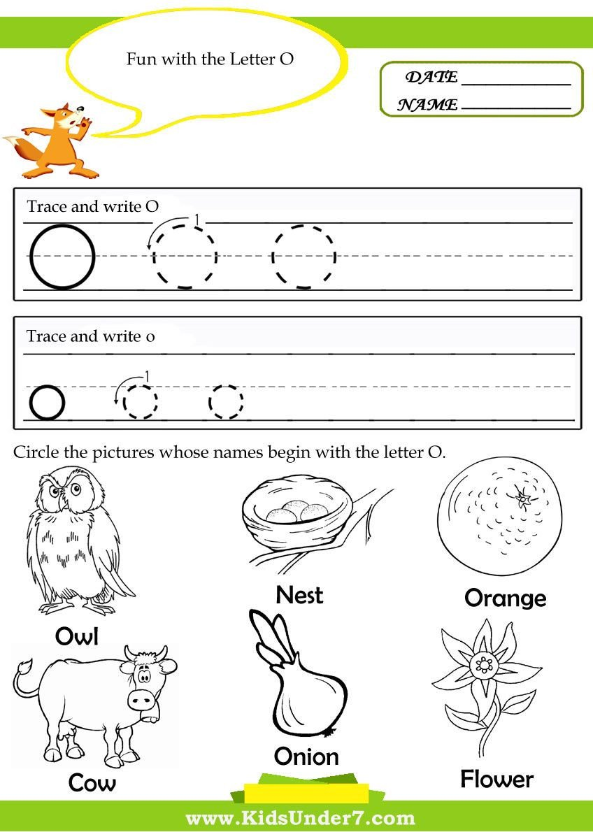 Silent E Worksheets for Kindergarten Worksheet O Worksheets for Kindergartene Preschoolers