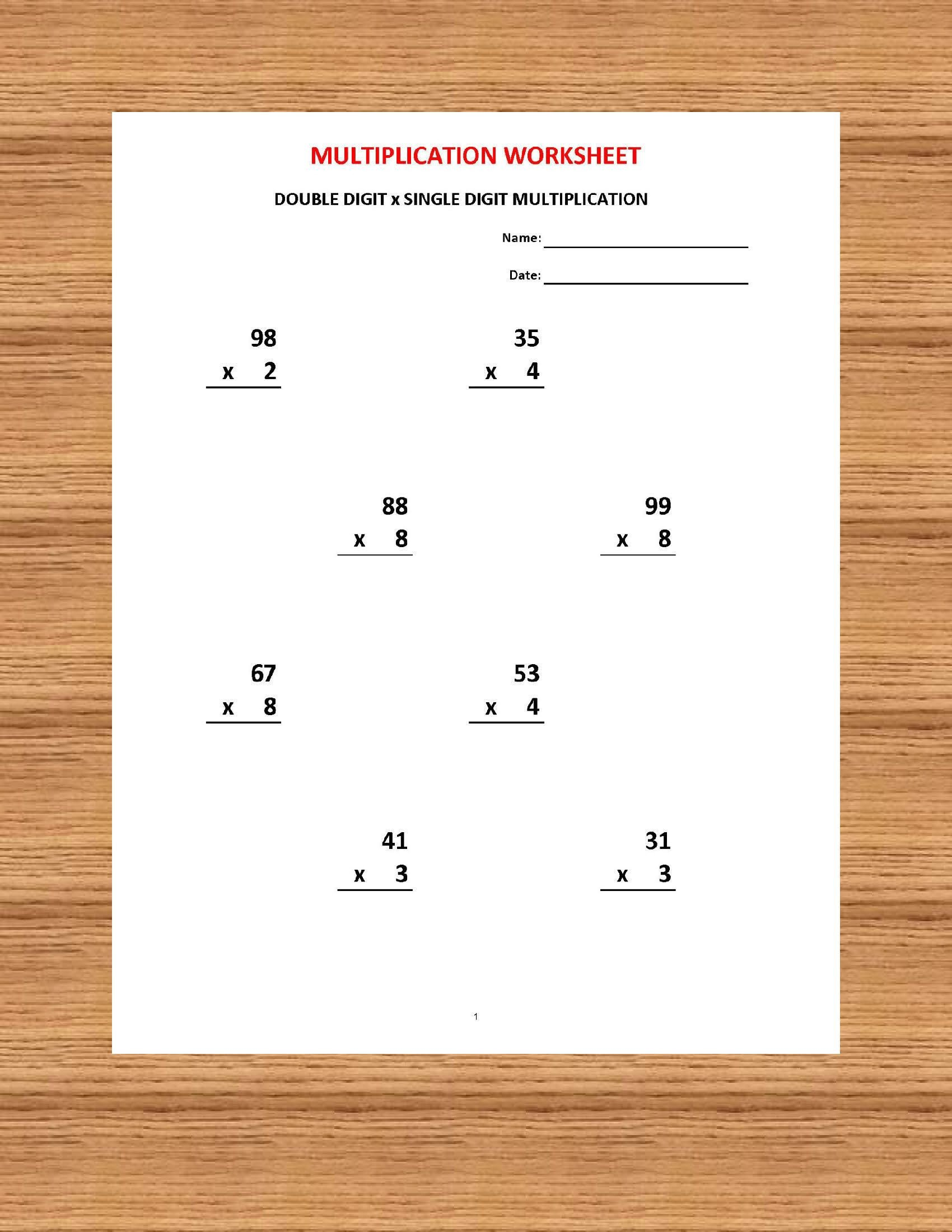Single Digit Subtraction Worksheets Pdf Addition 1 Minute Drill H 10 Math Worksheets with Answers