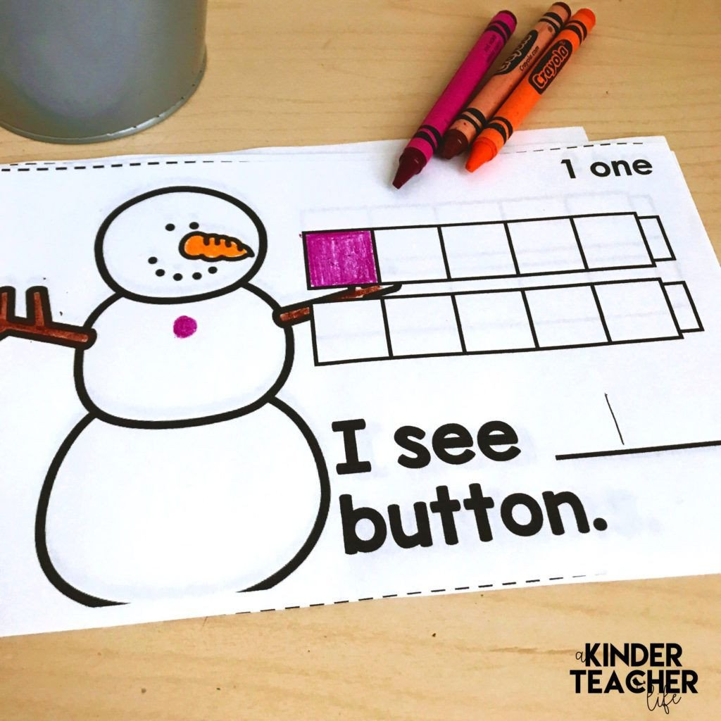 Snowman Math Worksheets Snowman Counting Book Free Printable