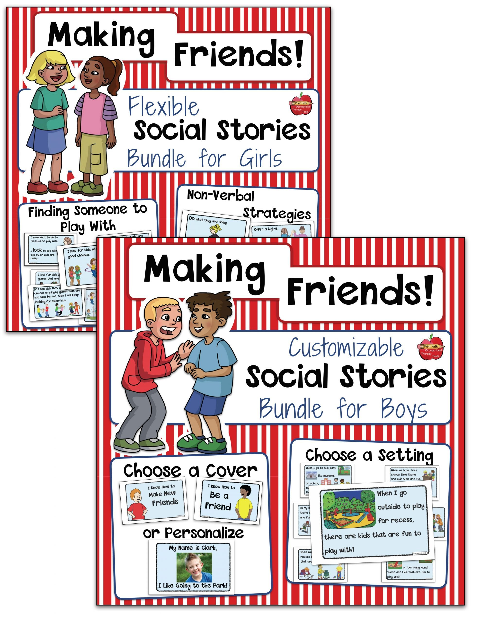 Social Skills Making Friends Worksheets Autism and Friendship Skills Your therapy source