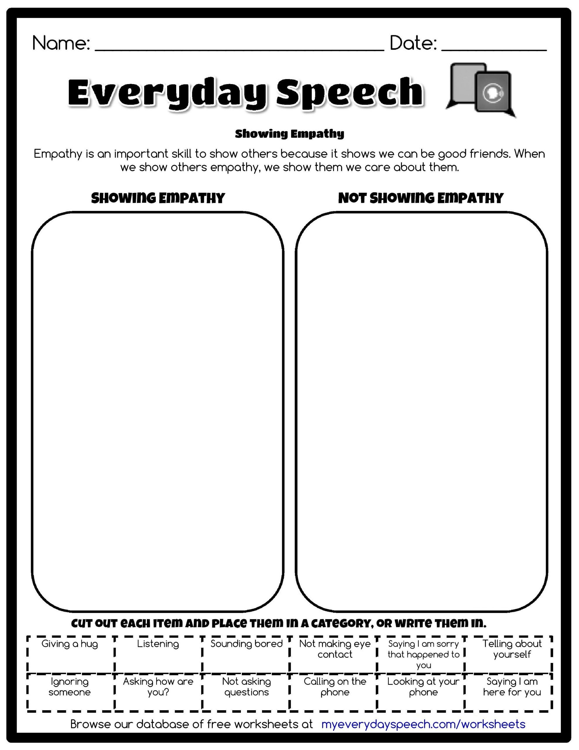 Social Skills Making Friends Worksheets Everyday Speech Worksheet Creator