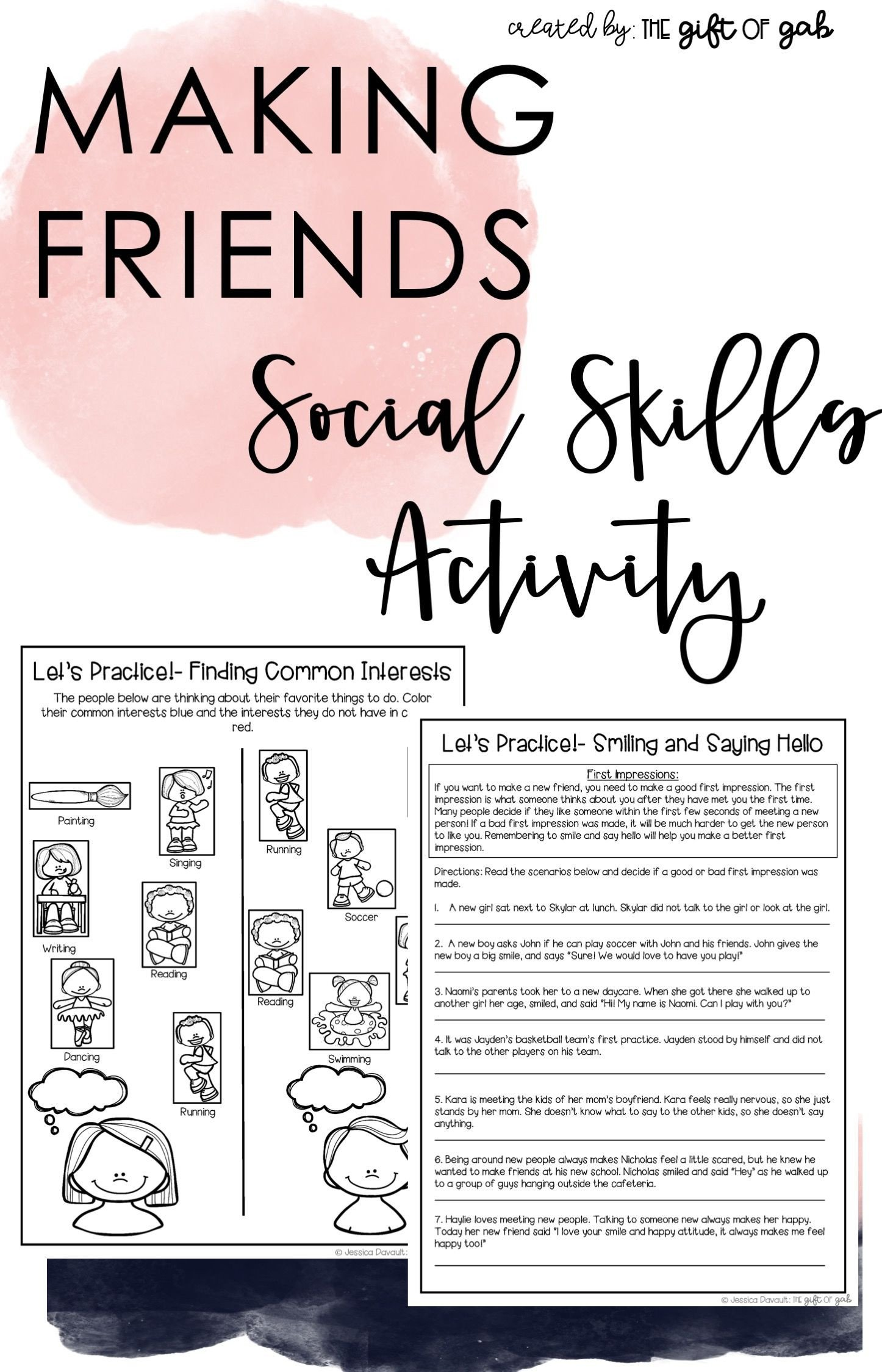 Social Skills Making Friends Worksheets Making Friends social Skills Activities for Kids In 2020