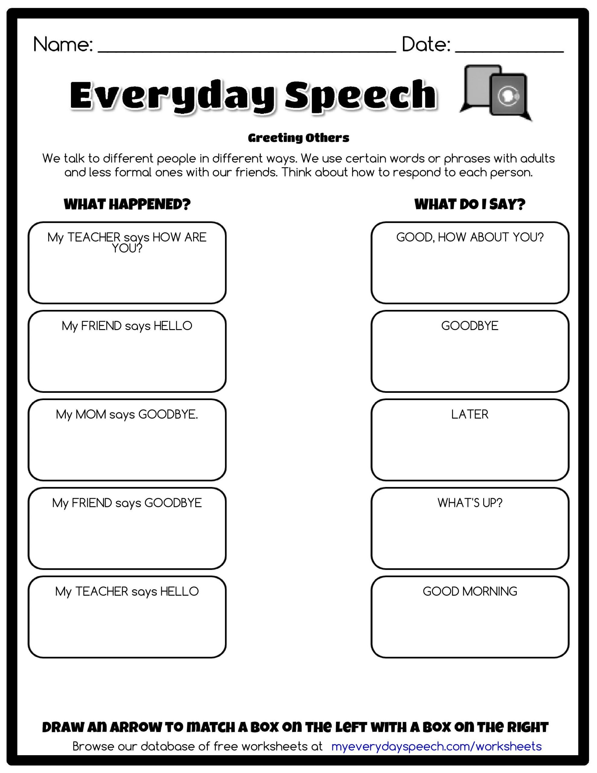 Social Skills Making Friends Worksheets Preview