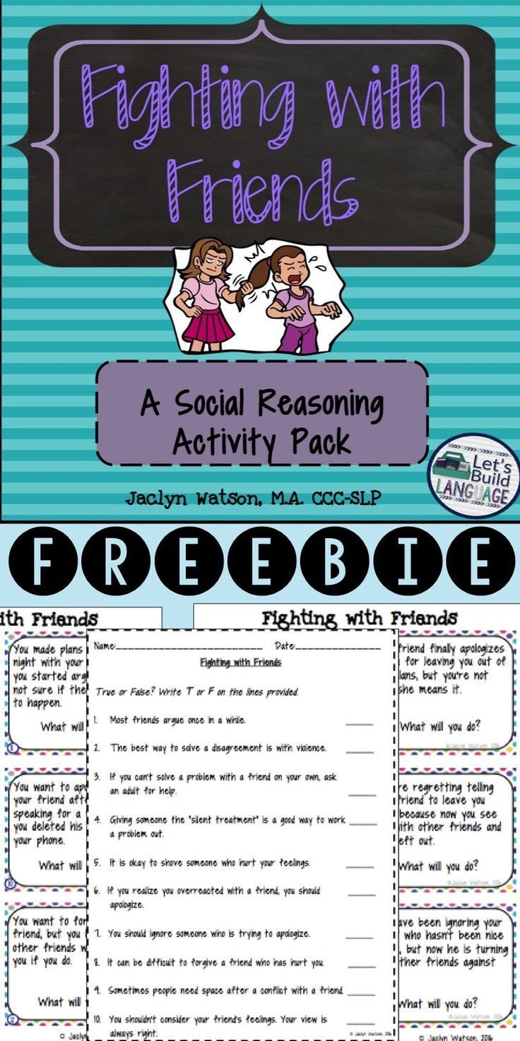 Social Skills Making Friends Worksheets social Skills Problem solving Fighting with Friends