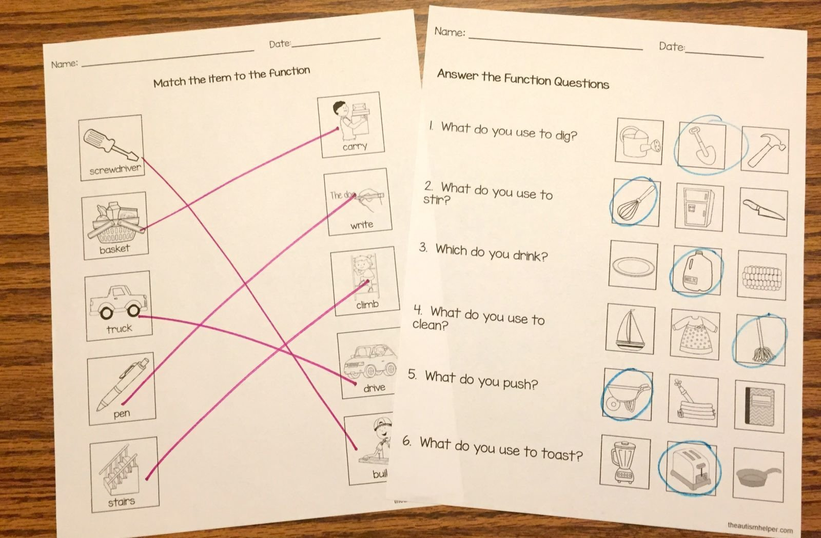 Social Skills Training Worksheets Adults Free Function Worksheets the Autism Helper