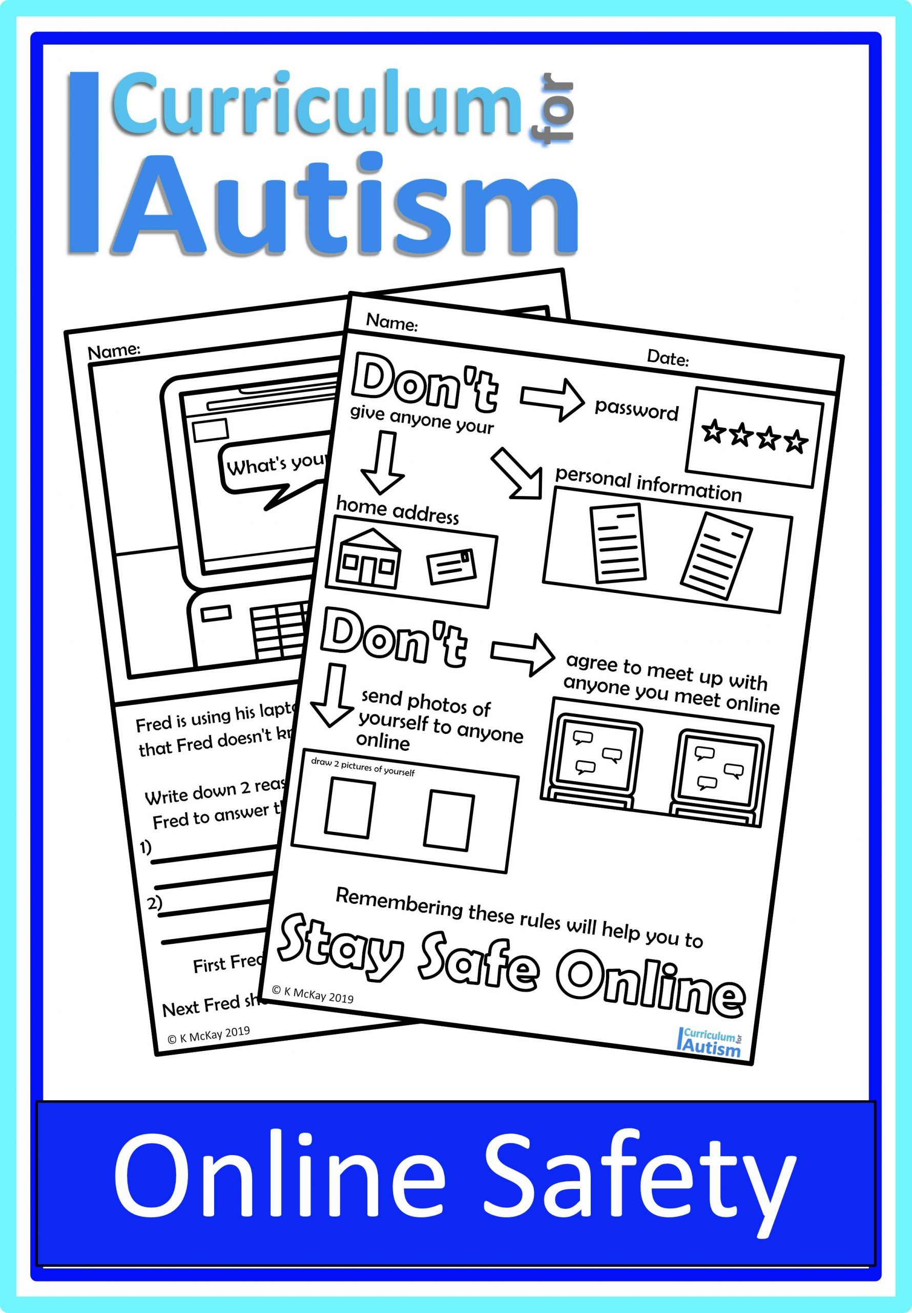 Social Skills Worksheets for Autism Line Safety Life Skills Worksheets — Curriculum for Autism