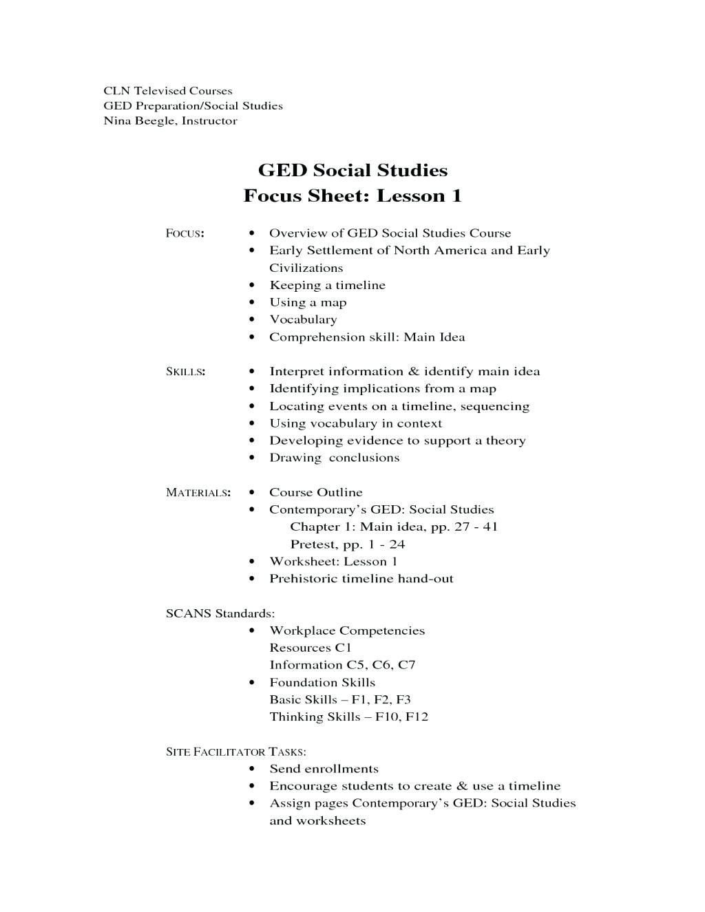Social Studies Ged Practice Worksheets 1 Ged social Stu S Map Worksheets Printable Ged social
