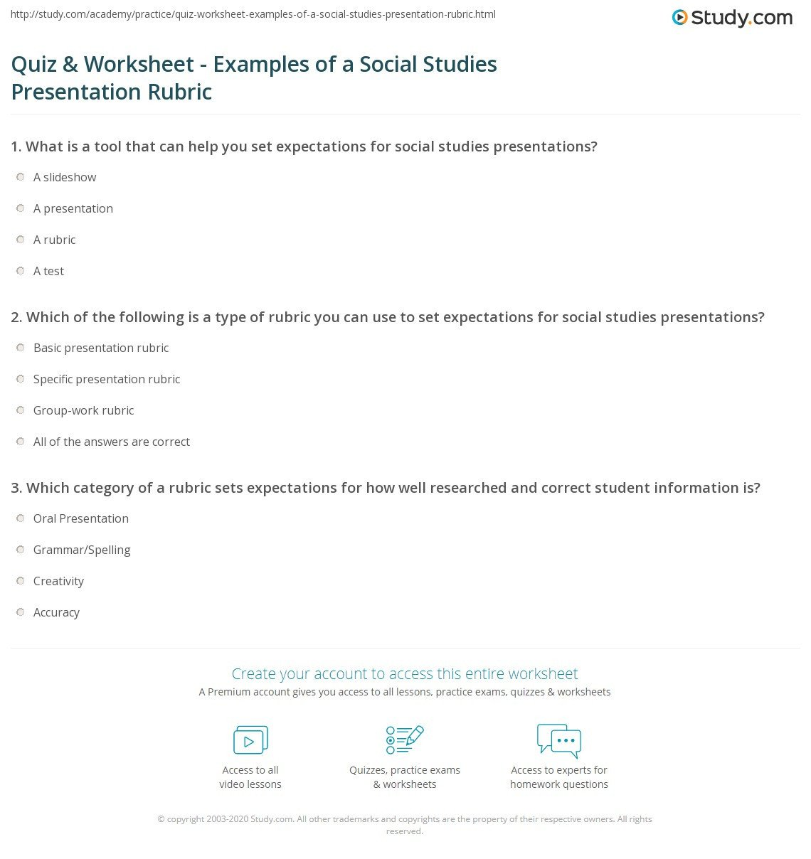 Social Studies Ged Practice Worksheets Quiz & Worksheet Examples Of A social Stu S Presentation