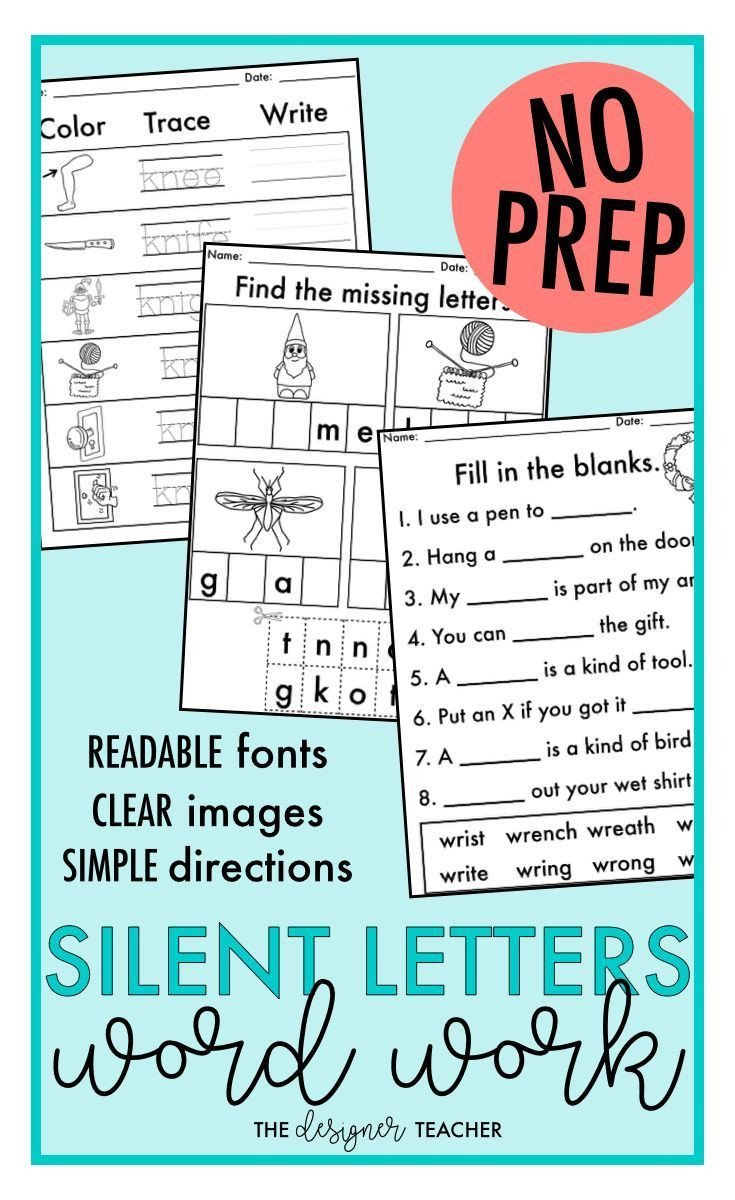 Soft C and G Worksheets No Prep Trigraphs Tch Dge soft C soft G Silent Letters