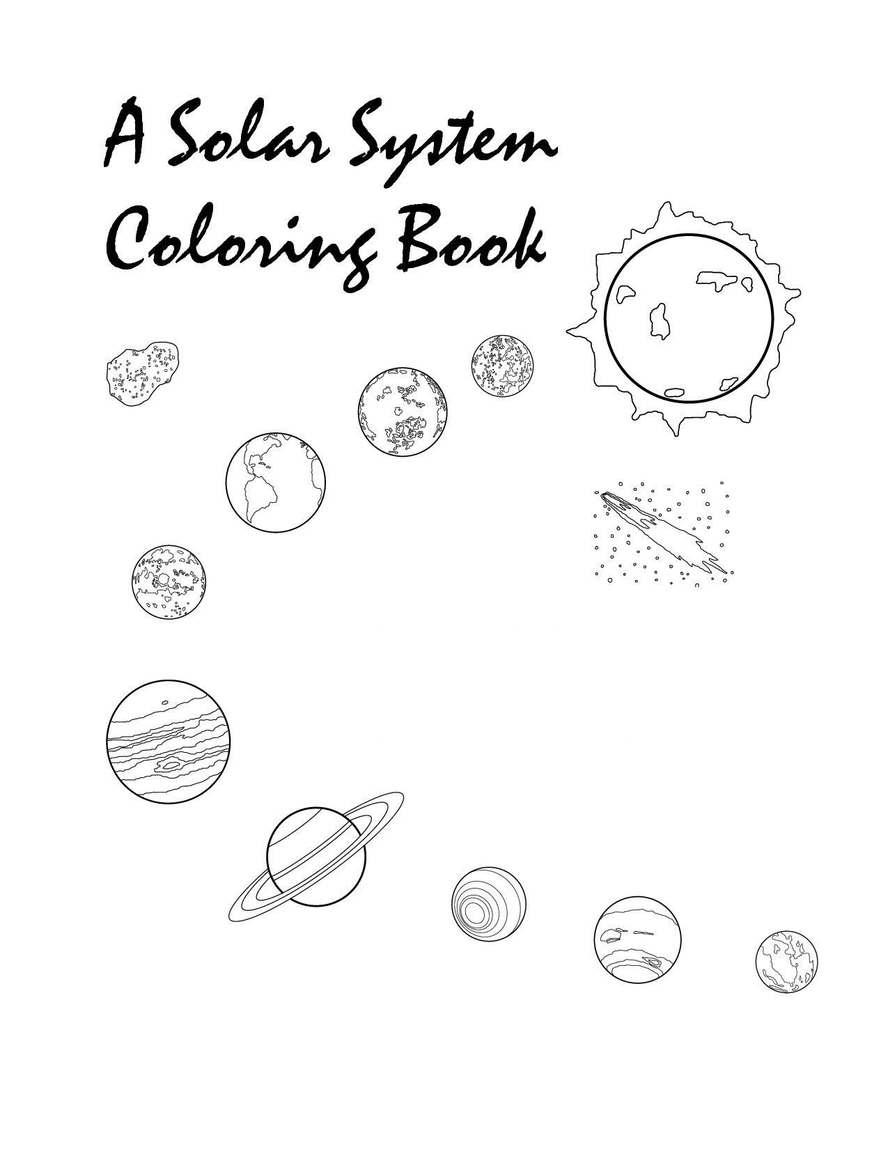 Solar System Worksheets 5th Grade Free Printable solar System Coloring for Kids Planet Sun and