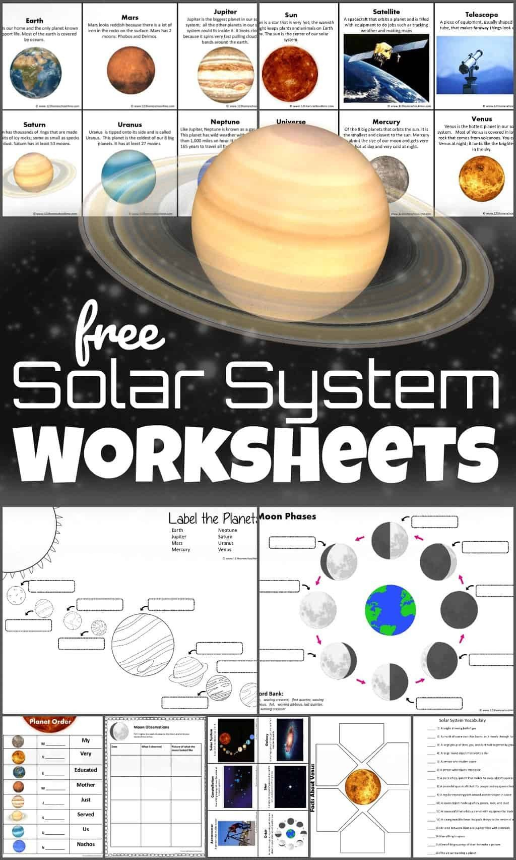 Solar System Worksheets 5th Grade Free solar System Worksheets