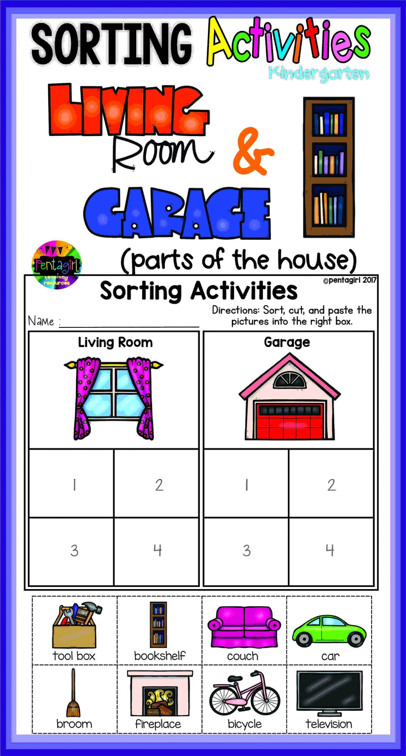 Sorting Worksheets for Kindergarten Kindergarten sorting Activities In This Fun Product the