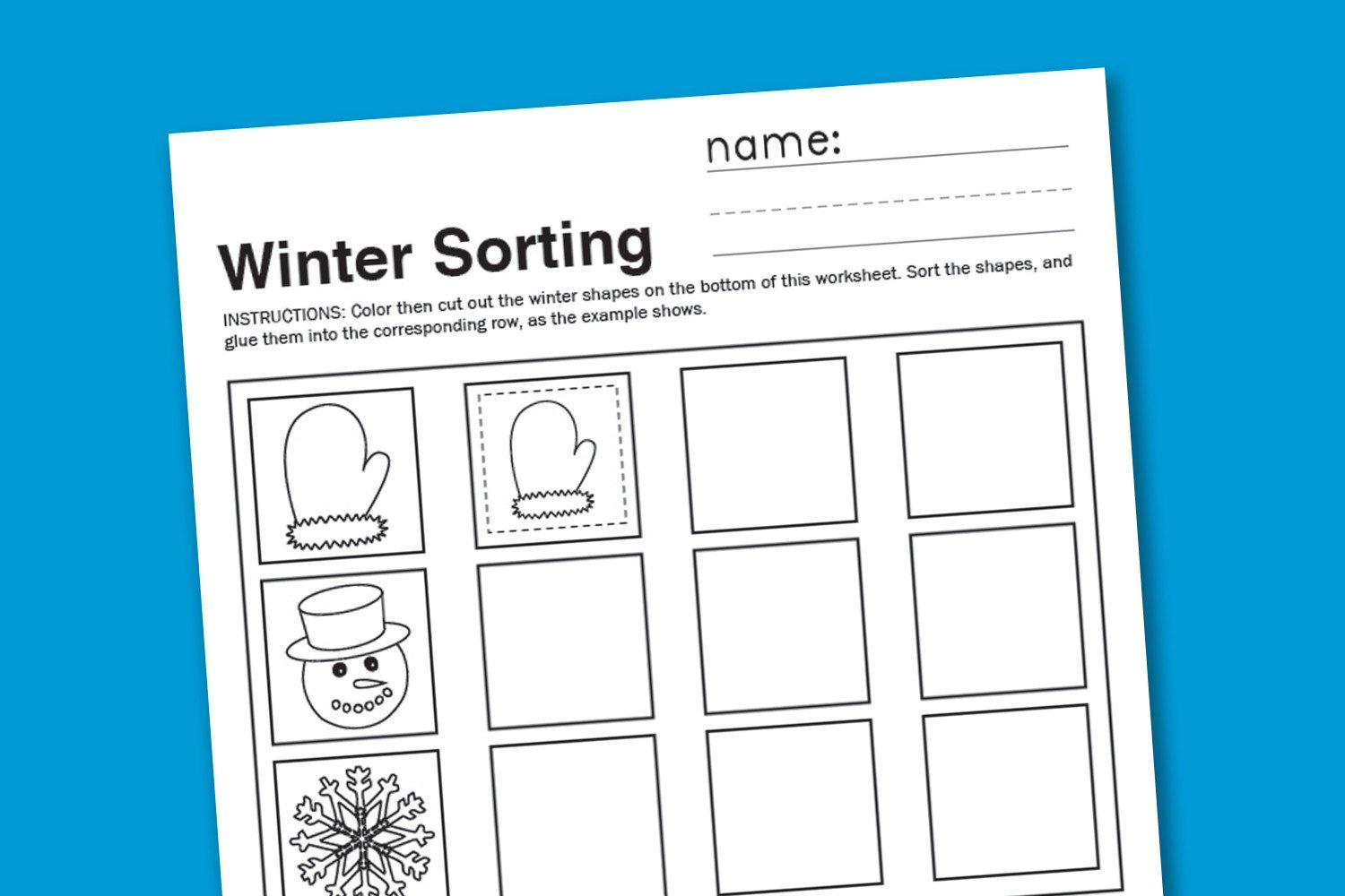 Sorting Worksheets for Kindergarten Winter sorting Worksheet Paging Supermom