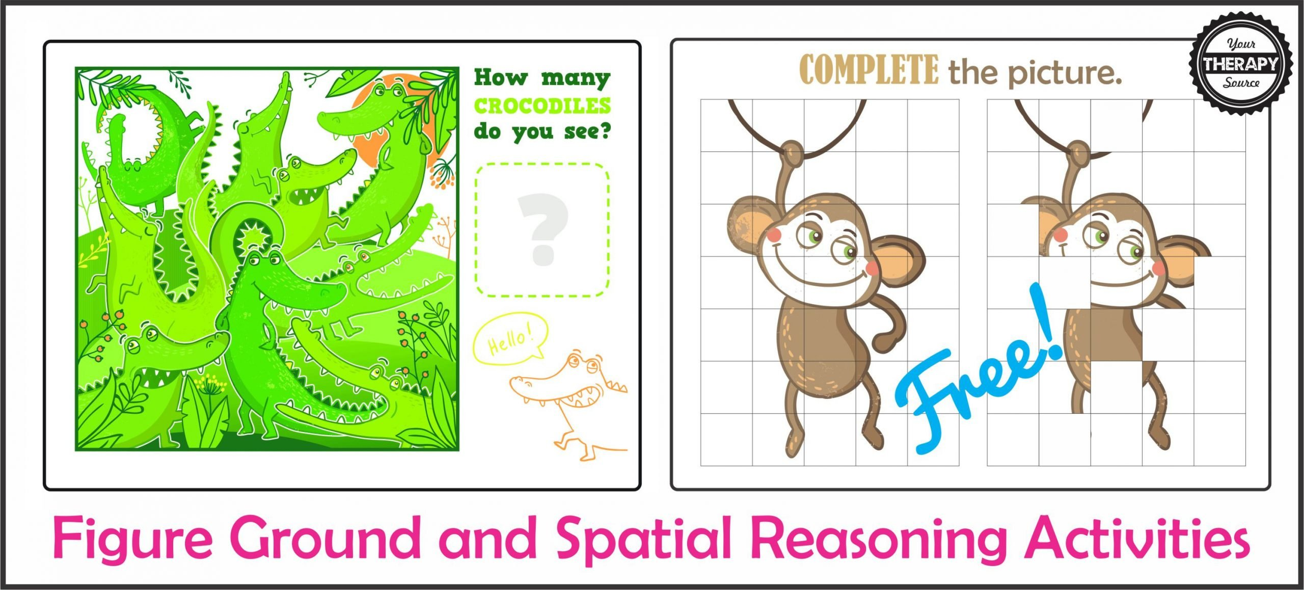 Figure Ground and Spatial Reasoning Activities Freebie