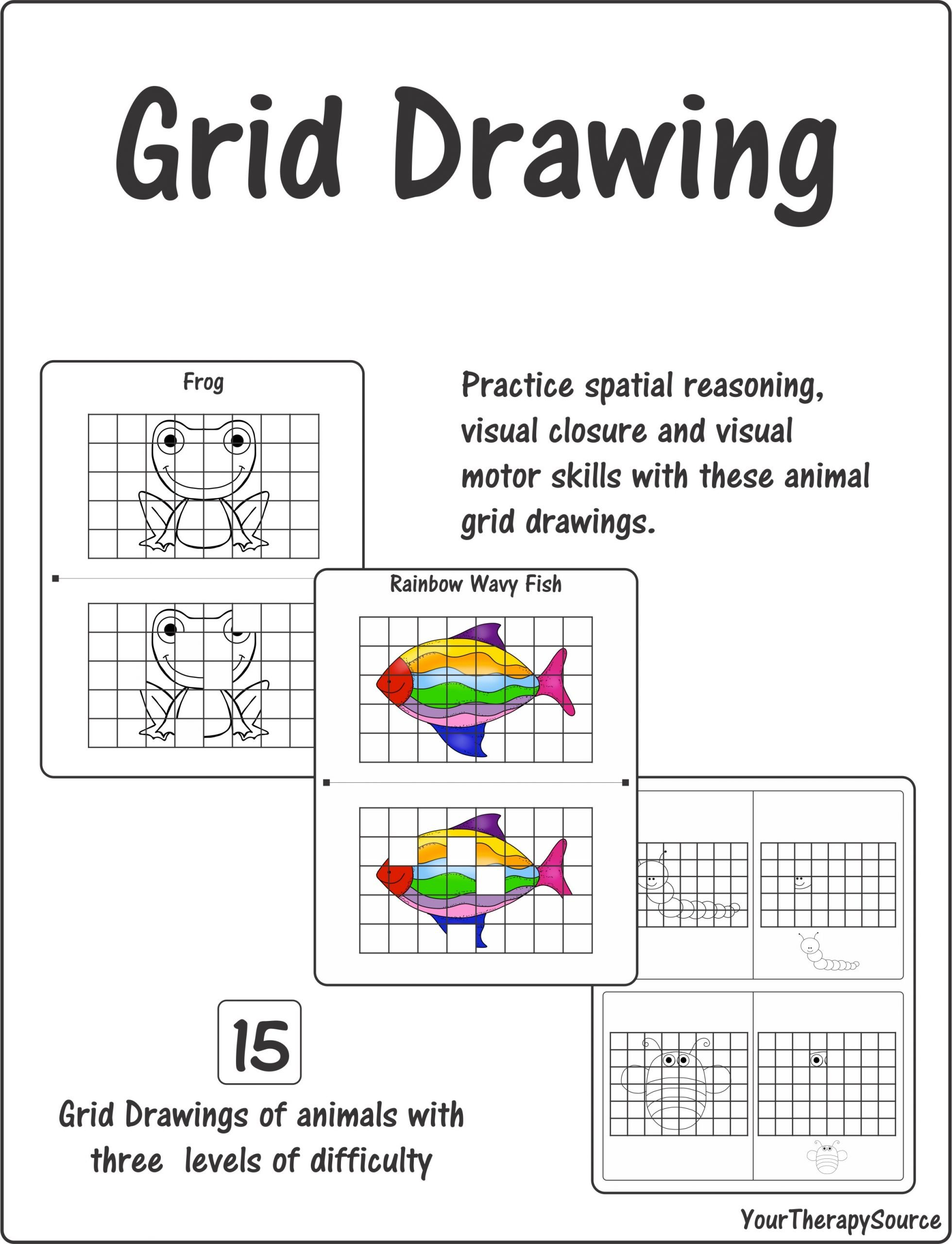 Spatial Reasoning Worksheets Grid Drawing – Spatial Reasoning