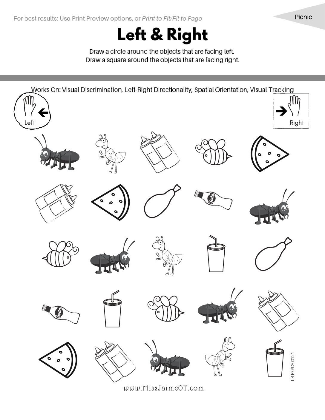 Picnic Left Right LR PI06 pdf