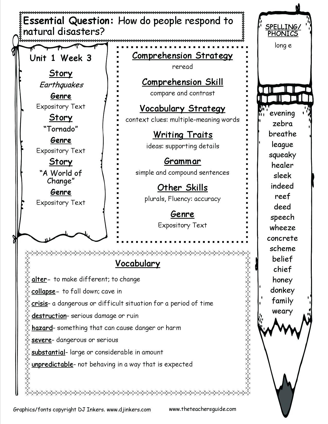 Story Elements Worksheets 2nd Grade Story Elements Worksheets for 2nd Grade