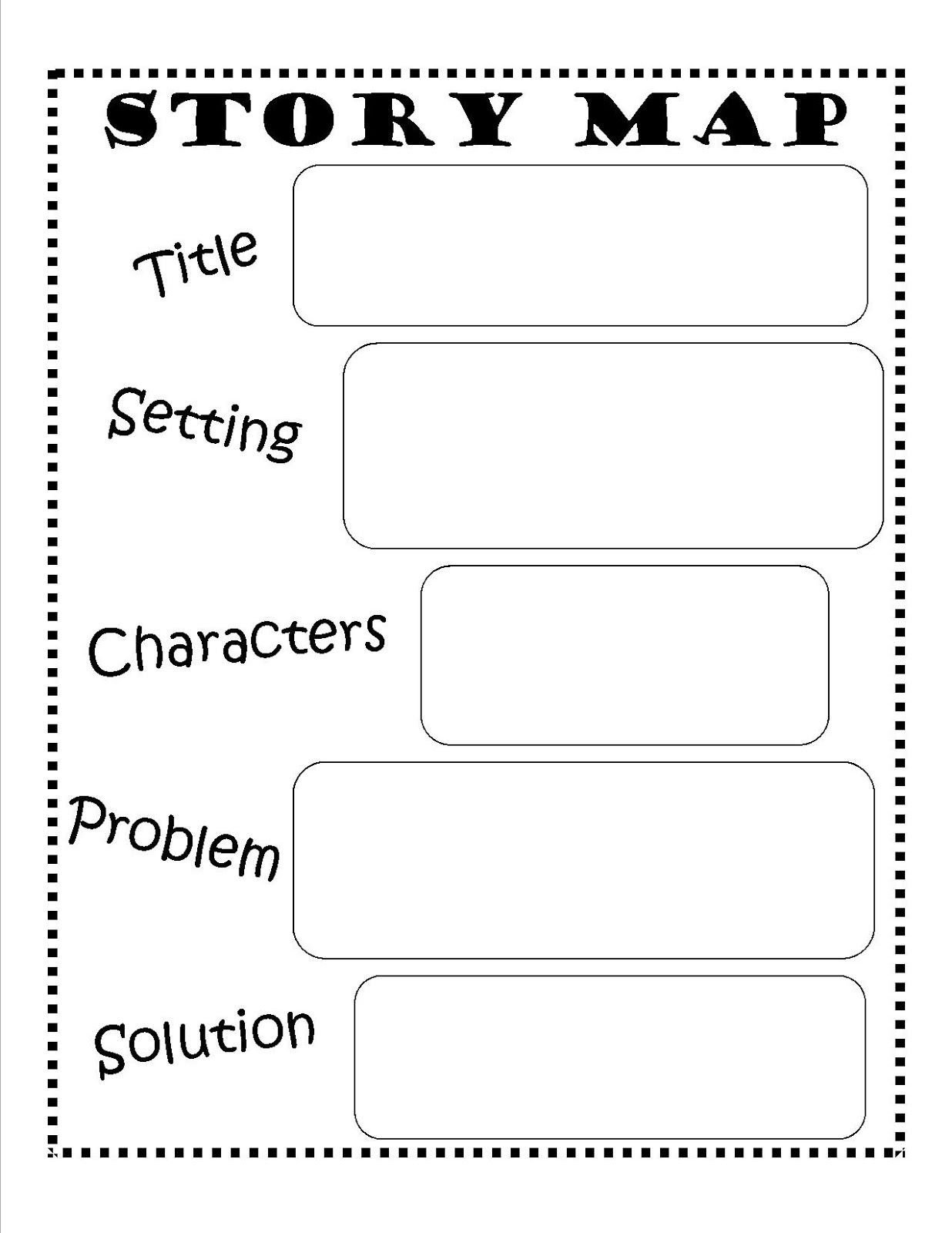 Story Elements Worksheets 2nd Grade Story Map Free Printable Reading Writing Kids