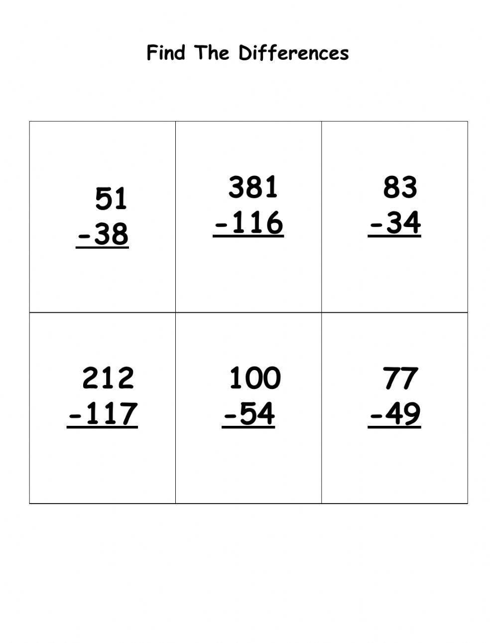 Subtracting Across Zeros Worksheet Pdf Subtraction with Regrouping Interactive Worksheet