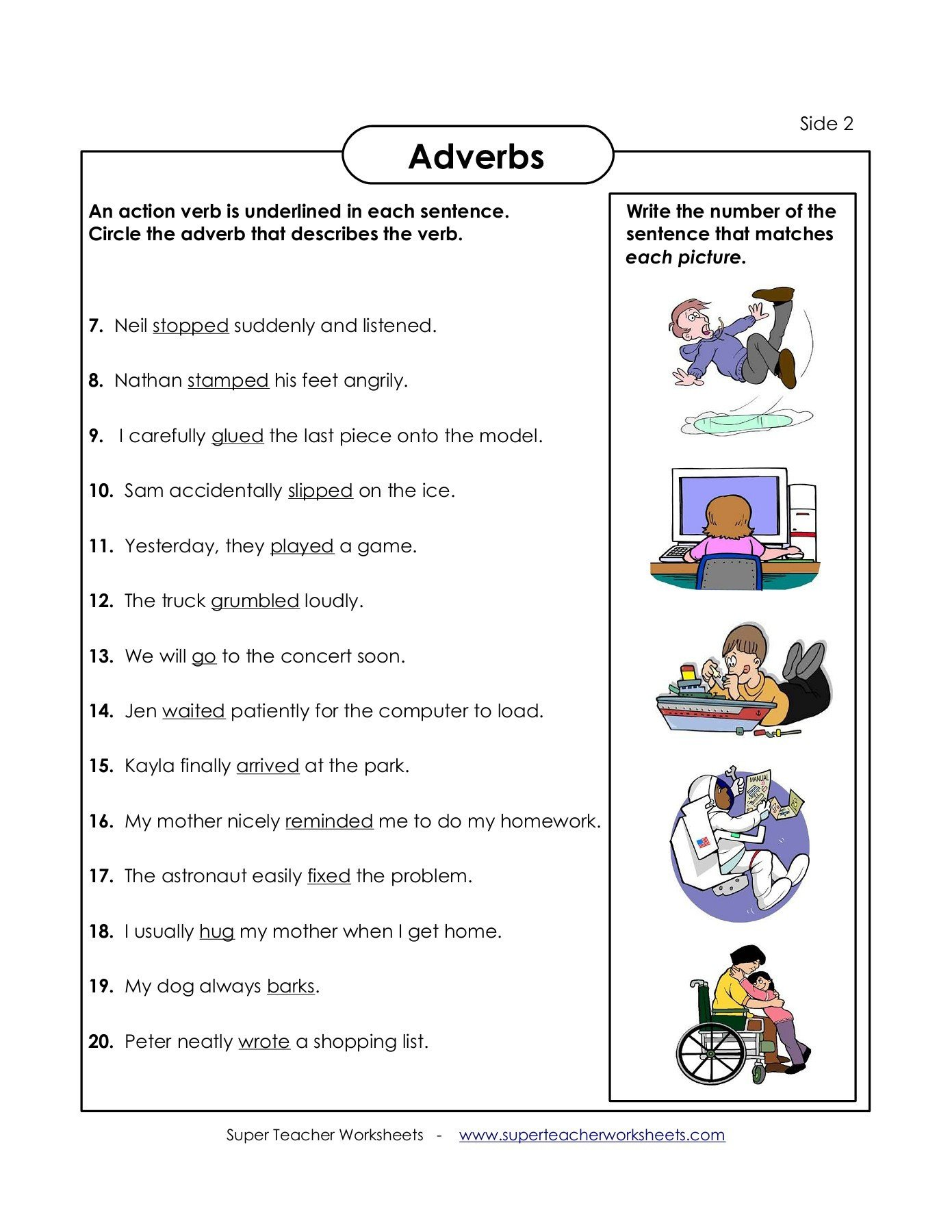 Super Teacher Worksheet Answers Adverbs Super Teacher Worksheets Pages 1 4 Text