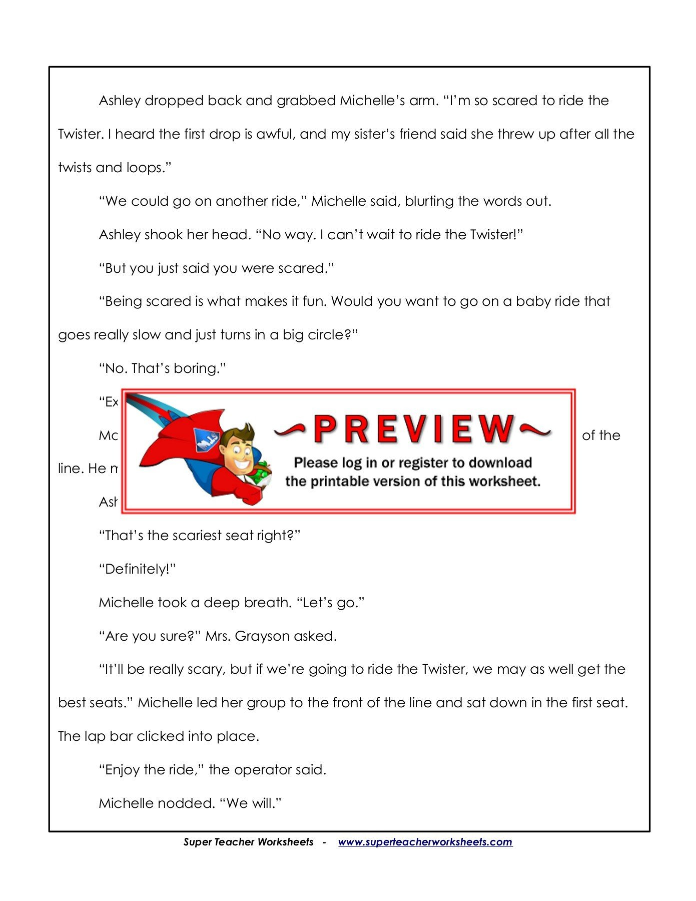 Super Teacher Worksheet Answers Name the Twister Super Teacher Worksheets